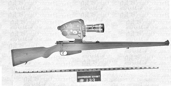 Zapruder camera mounted on original sniper gun