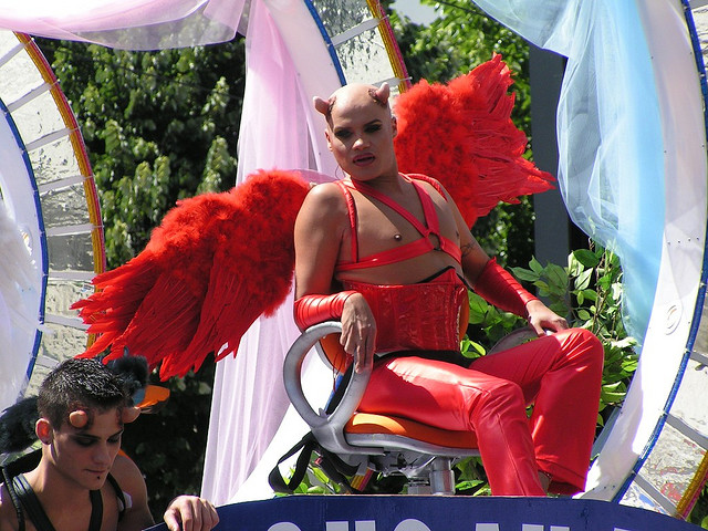 Gay Devil on Gay Pride float