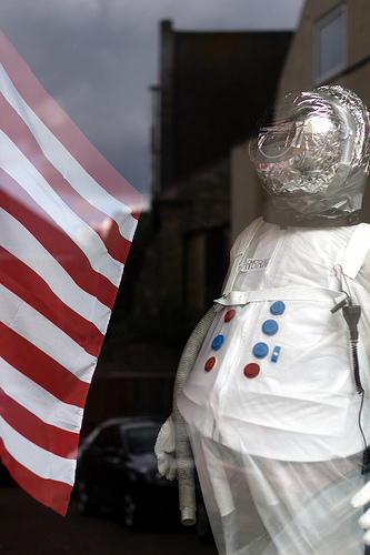 Fat astronaut suit