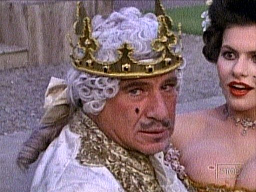 Mel Brooks in King Costume