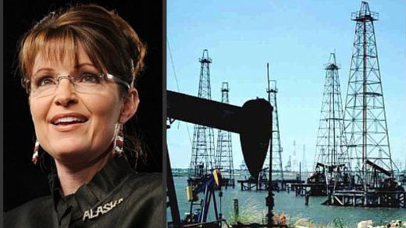 Sarah Palin and oil rigs