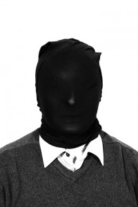 """""""Sam Bacile"""" with black Queen-size pantyhose on his head"""