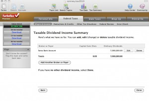 Romney's TurboTax screen shows Swiss bank accounts