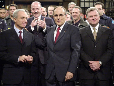 New York City Rudolph Giuliani appears on Saturday Night Live after September 11