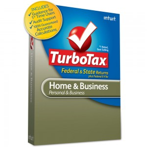 TurboTax Home & Business Software Box