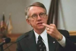 Harry Reid flips the bird?